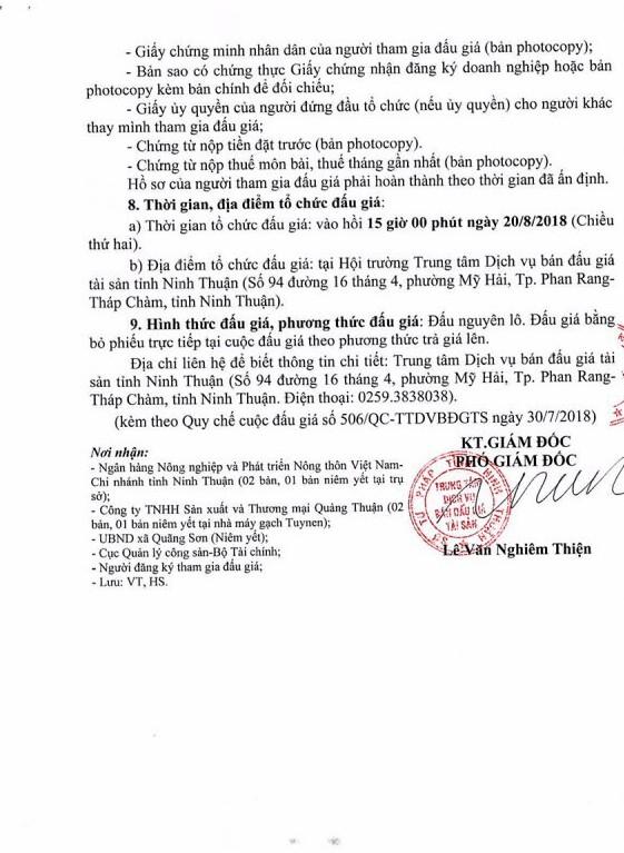 Đấu giá công trình xây dựng và máy móc thiết bị tại Ninh Thuận - ảnh 3