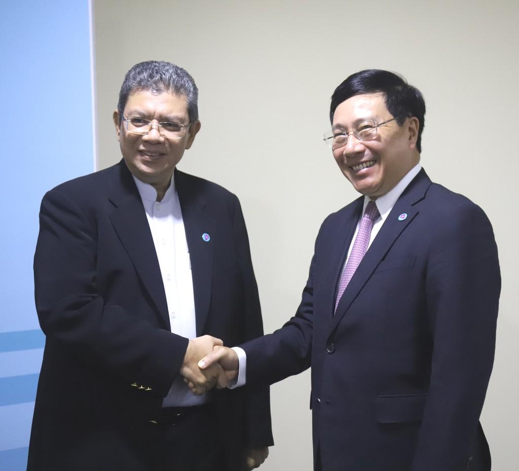 Phó Thủ tướng Phạm Bình Minh tiếp xúc song phương bên lề AMM-51 - ảnh 2