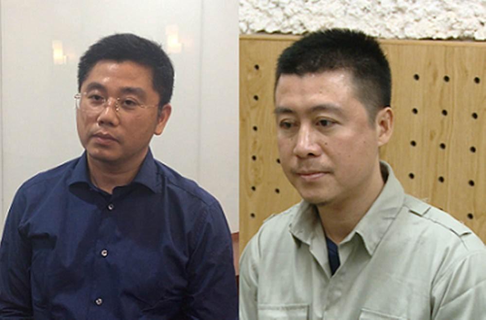 Bị can Nguyễn Văn Dương (trái) và Phan Sào Nam