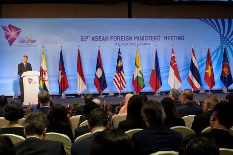 Thủ tướng Singapore Lý Hiển Long phát biểu khai mạc Hội nghị - Ảnh: BNG