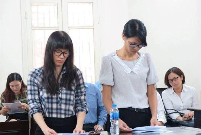 Lisa Nguyen và Jennifer Nguyen tại tòa ngày 6/8.
