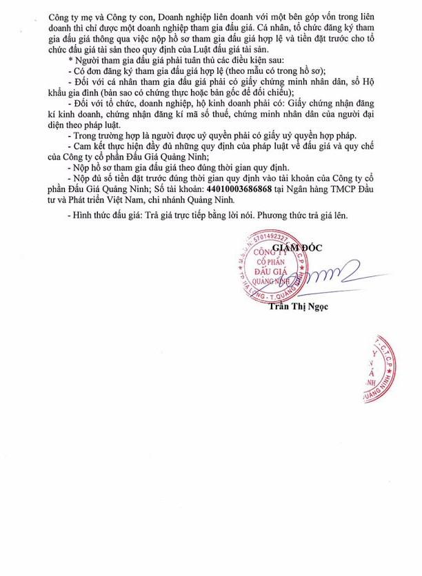 Ngày 23/8 đấu giá máy móc thiết bị tại Quảng Ninh - ảnh 2