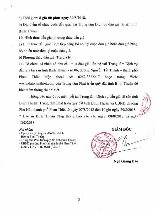 Ngày 30/8 đấu giá quyền sử dụng đất và tài sản gắn liền với đất tại thành phố Phan Thiết, Bình Thuận - ảnh 3