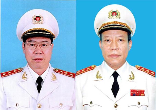 Thứ trưởng Bùi Văn Nam (trái) và Lê Quý Vương. (Ảnh: Bộ Công an).