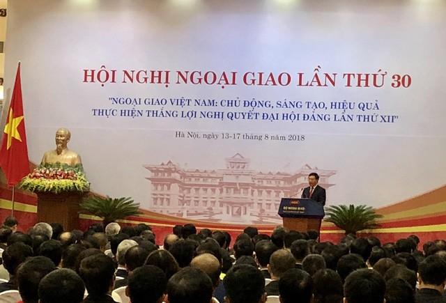 Phó Thủ tướng Phạm Bình Minh phát biểu tại HNNG 30. Ảnh Internet