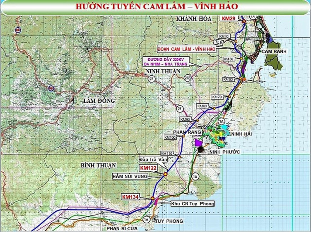 Hơn 18.000 tỷ đồng làm tuyến cao tốc Cam Lâm - Vĩnh Hảo - ảnh 1