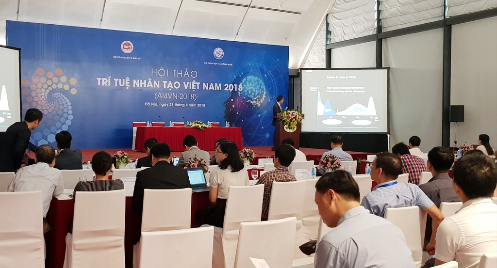 Quang cảnh Hội thảo Trí tuệ nhân tạo (AI Việt Nam 2018). Ảnh: Nguyệt Minh