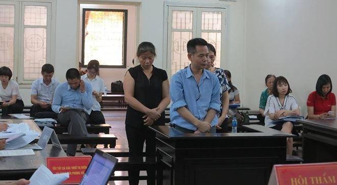 Bị cáo Lê Quốc Dương và đồng phạm tại tòa sơ thẩm. Ảnh Internet