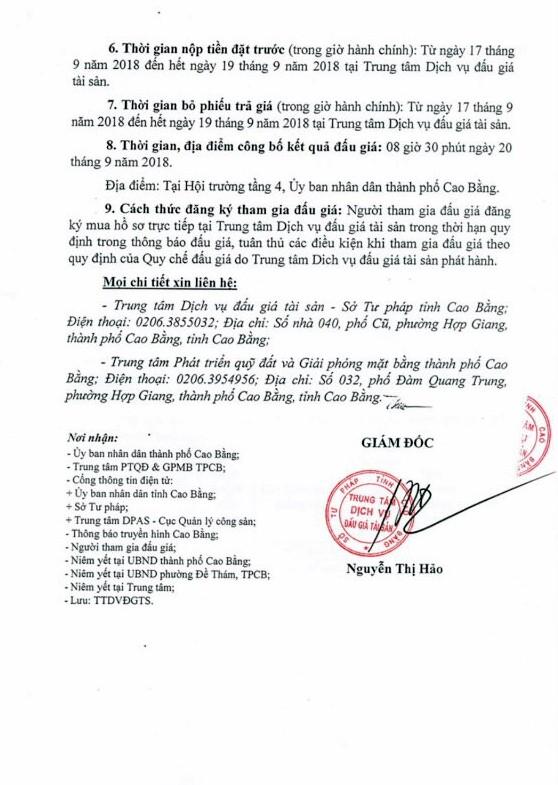 Ngày 20/9/2018, đấu giá quyền sử dụng đất tại thành phố Cao Bằng, Cao Bằng - ảnh 3