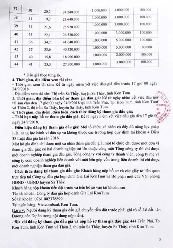 Ngày 27/9/2018, đấu giá quyền sử dụng 44 lô đất tại huyện Sa Thầy, Kon Tum - ảnh 3