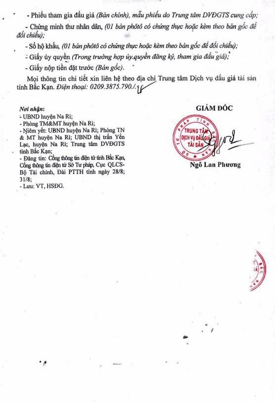 Ngày 20/9/2018, đấu giá quyền sử dụng đất tại huyện Na Rì, Bắc Kạn - ảnh 3