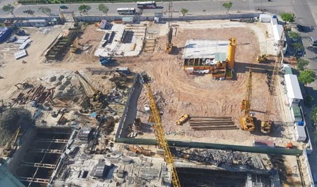 Công trình dự án cao ốc của Công ty CP Kim Long Nam ở quận Sơn Trà, Đà Nẵng