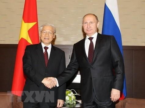Tổng Bí thư Nguyễn Phú Trọng và Tổng thống Nga V.Putin