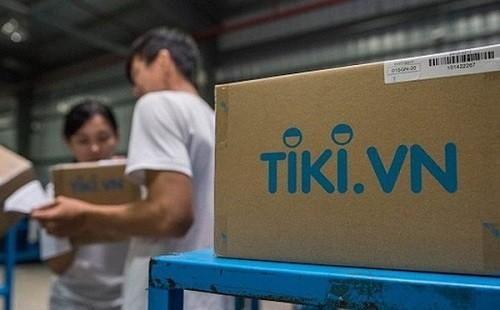 Khâu đóng gói hàng hoá của Tiki.