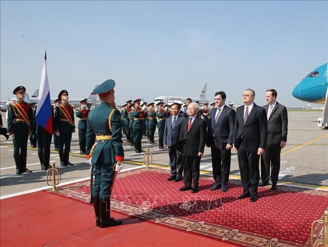 Tổng Bí thư Nguyễn Phú Trọng tại Lễ đón chính thức. Ảnh: TTXVN