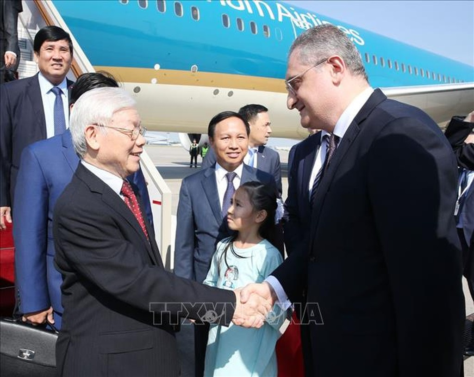 Tổng Bí thư đến Moscow, bắt đầu thăm chính thức Liên bang Nga - ảnh 1