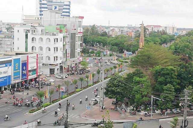Một góc trung tâm tỉnh Cà Mau.