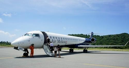 Thời còn hoạt động, Air Mekong sử dụng tàu bay Bombardier CRJ-900 do Canada sản xuất.