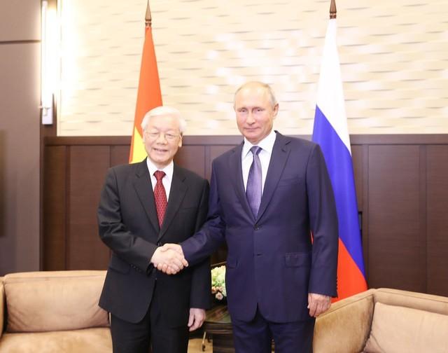 Tổng Bí thư Nguyễn Phú Trọng hội đàm với Tổng thống Nga Vladimir Putin - ảnh 1