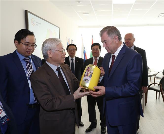 Tổng Bí thư Nguyễn Phú Trọng thăm tỉnh Kaluga, Liên bang Nga - ảnh 1