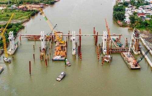 Dự án chống ngập do triều có xét đến yếu tố biến đổi khí hậu hiện thi công được 72%.