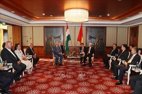 Tổng Bí thư tiếp Chủ tịch Hội Hữu nghị Hungary - Việt Nam - ảnh 1