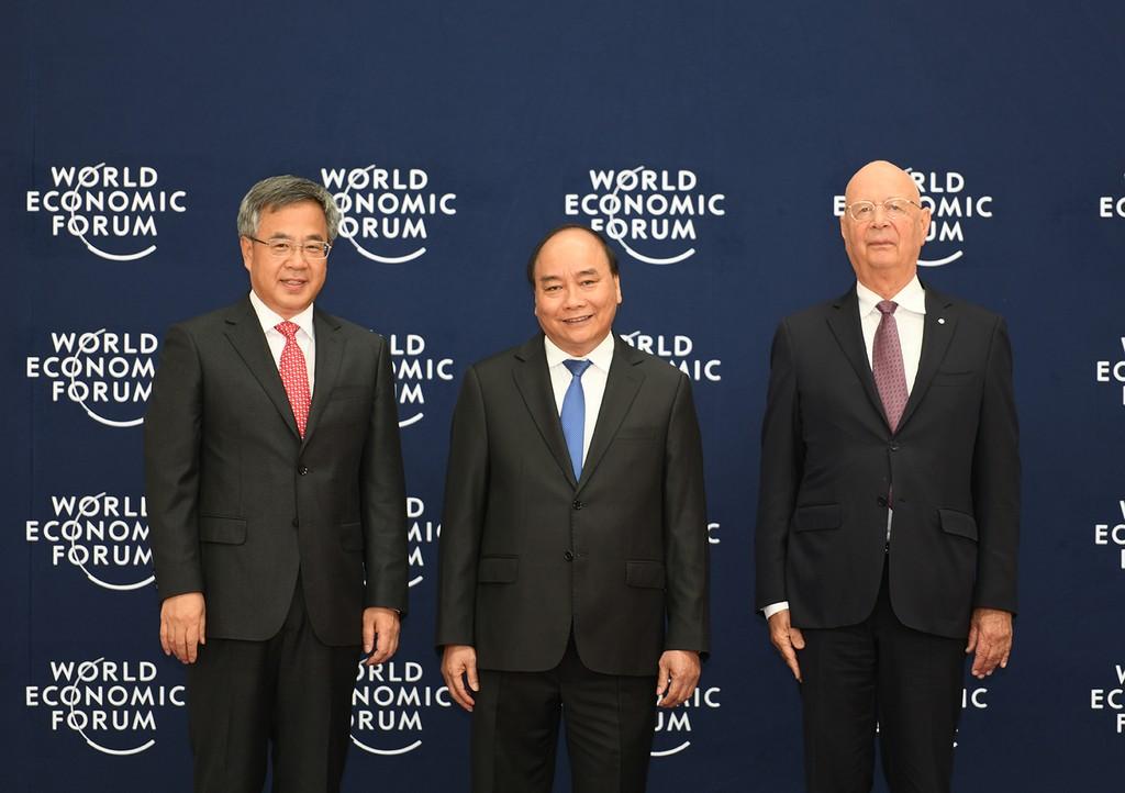 Chùm ảnh: Thủ tướng chủ trì lễ đón các trưởng đoàn dự WEF ASEAN 2018 - ảnh 2