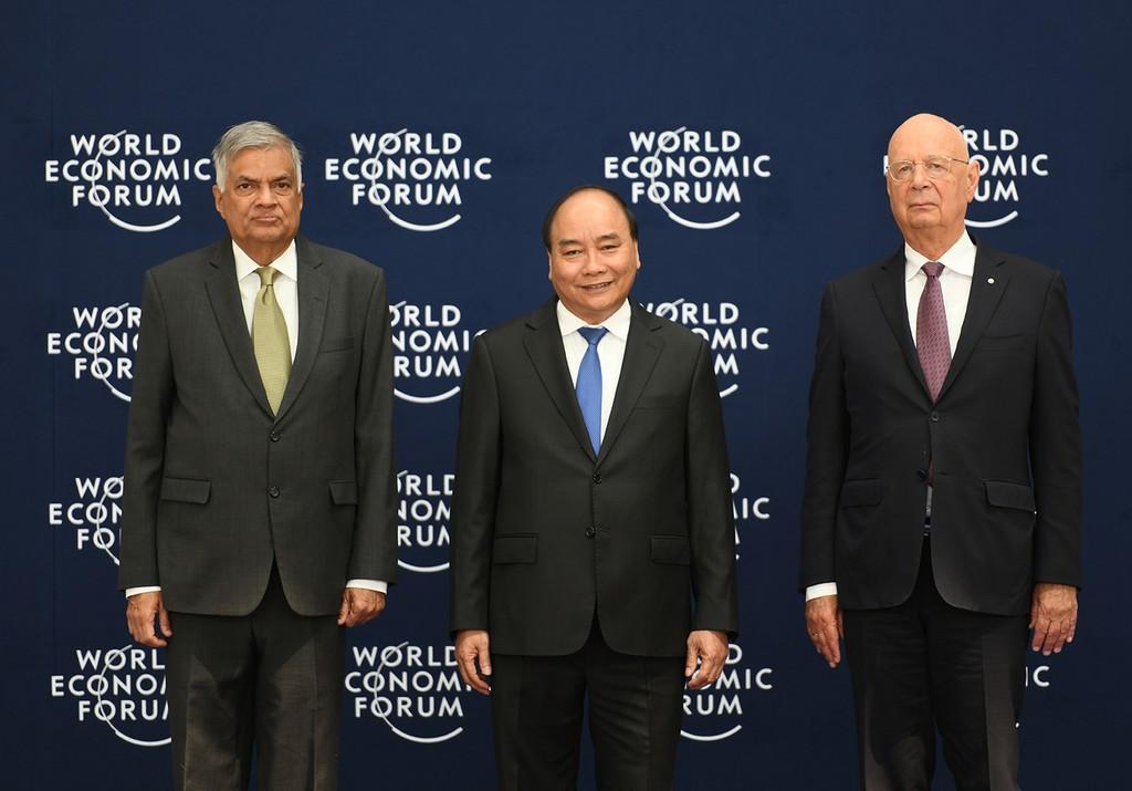 Chùm ảnh: Thủ tướng chủ trì lễ đón các trưởng đoàn dự WEF ASEAN 2018 - ảnh 7