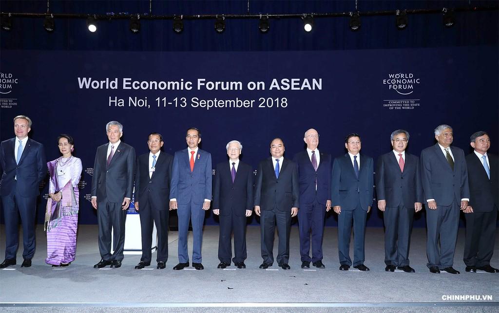 Các đại biểu dự Hội nghị WEF ASEAN 2018. Ảnh: VGP