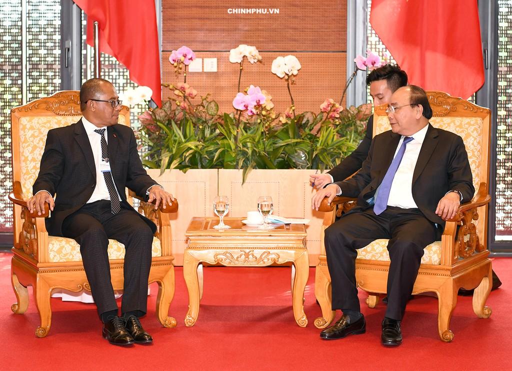 Thủ tướng tiếp Bộ trưởng Ngoại giao Timor Leste. Ảnh: VGP