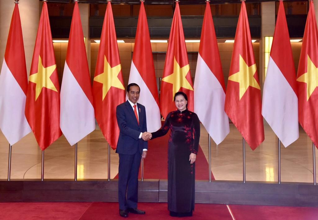 Lãnh đạo Đảng, Quốc hội tiếp Tổng thống Cộng hòa Indonesia - ảnh 1