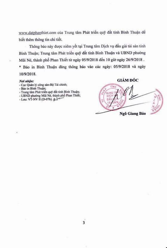 Ngày 27/9/2018, đấu giá quyền sử dụng đất tại thành phố Phan Thiết, Bình Thuận - ảnh 3