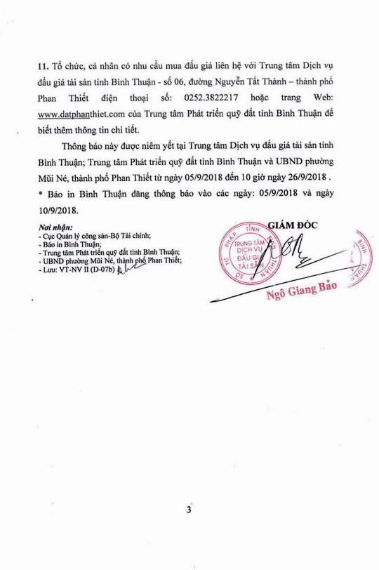 Ngày 27/9/2018, đấu giá quyền sử dụng đất (khu du lịch) tại thành phố Phan Thiết, Bình Thuận - ảnh 3