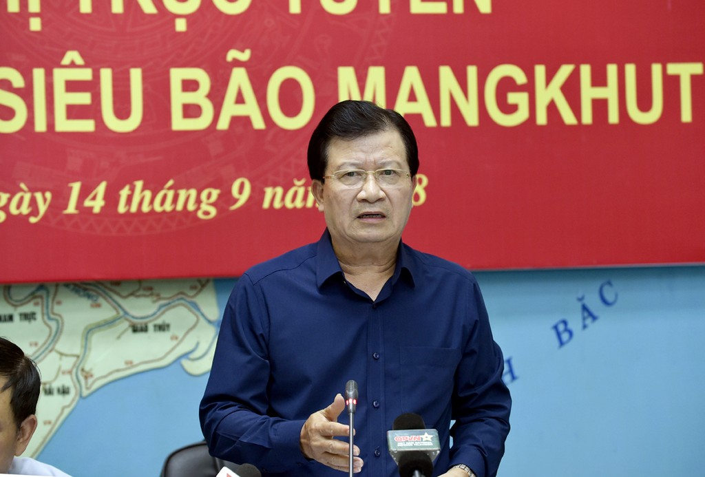 Phó Thủ tướng Trịnh Đình Dũng phát biểu chỉ đạo cuộc họp. Ảnh: VGP