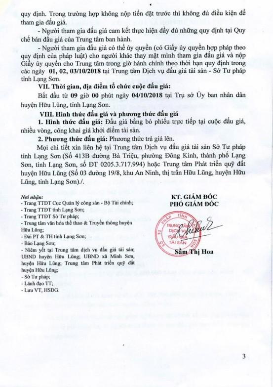 Ngày 4/10/2018, đấu giá quyền sử dụng đất tại huyện Hữu Lũng, tỉnh Lạng Sơn - ảnh 3