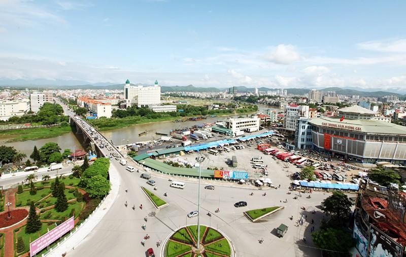 Một góc thành phố Móng Cái. Ảnh Internet