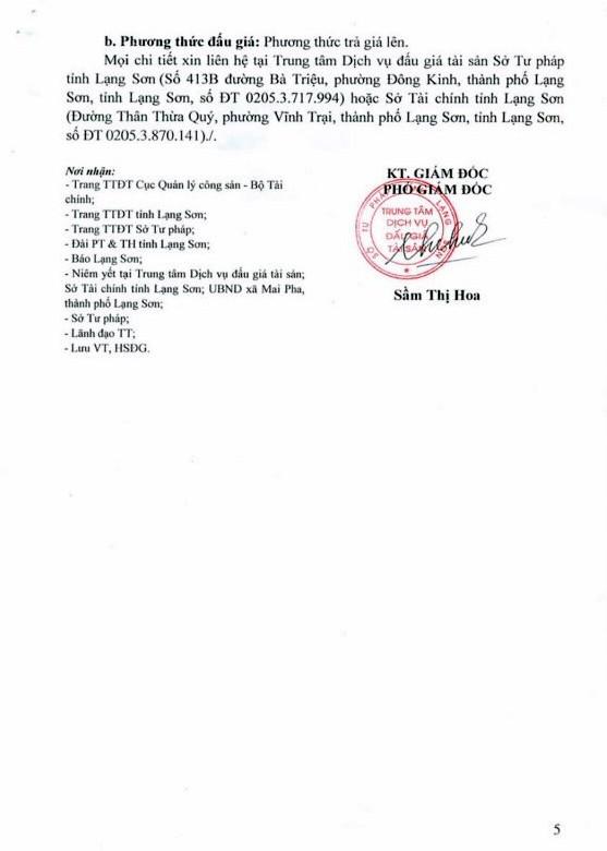 Ngày 12/10/2018, đấu giá quyền sử dụng đất tại thành phố Lạng Sơn, tỉnh Lạng Sơn - ảnh 5