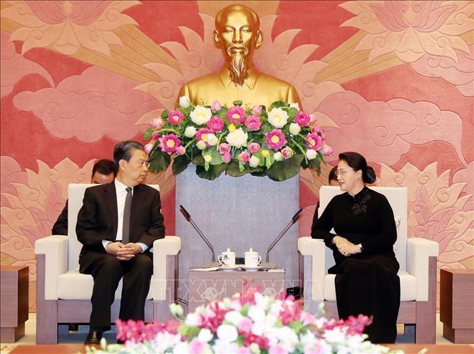Chủ tịch Quốc hội tiếp Bí thư Ủy ban Kiểm tra Kỷ luật Trung ương Đảng Cộng sản Trung Quốc - ảnh 1