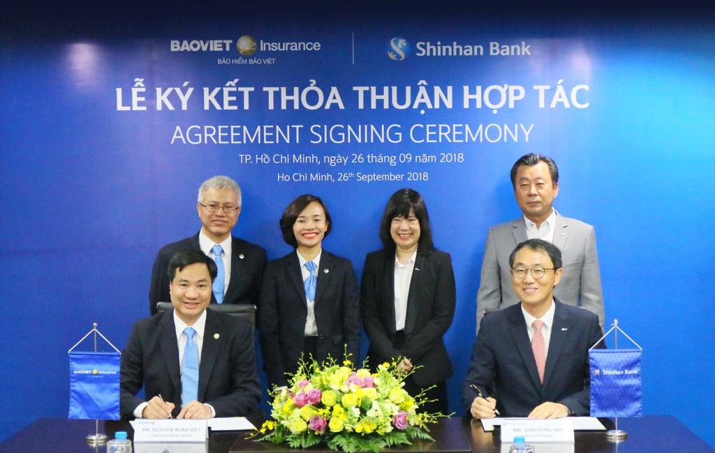 Bảo hiểm Bảo Việt ký kết hợp tác cùng Ngân hàng Shinhanbank