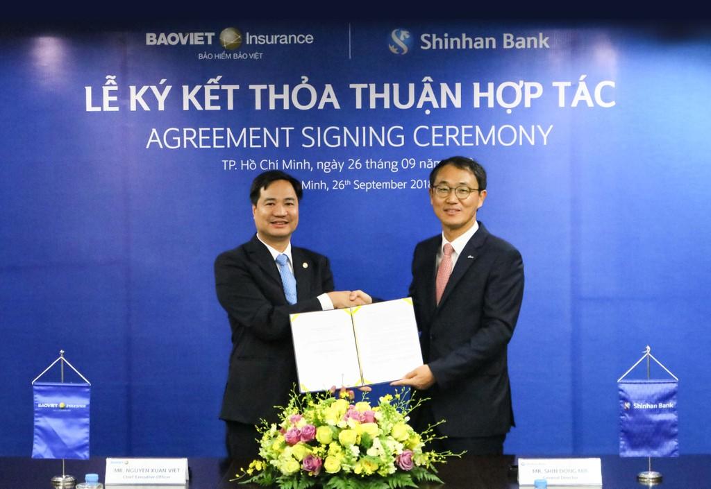 Bảo hiểm Bảo Việt ký kết hợp tác cùng Ngân hàng Shinhan - ảnh 1