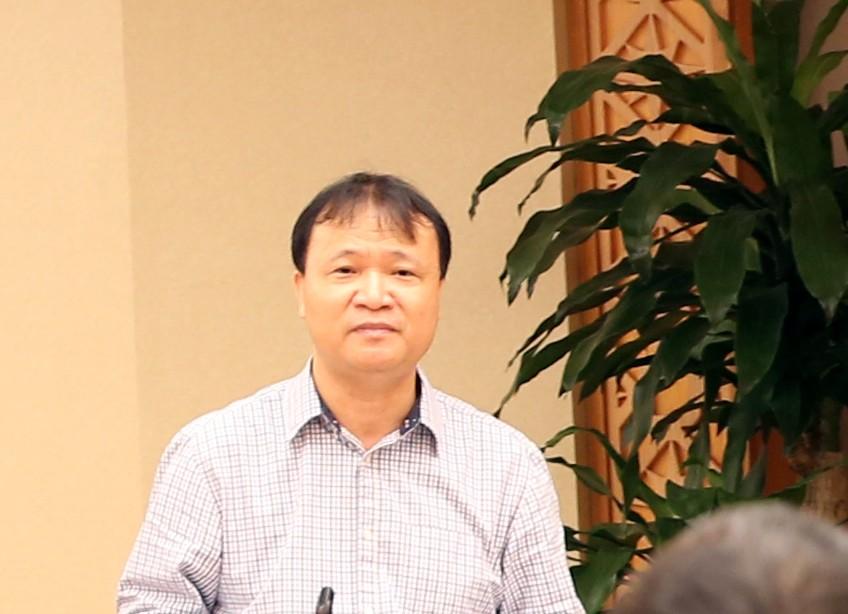 Thứ trưởng Bộ Công Thương Đỗ Thắng Hải phát biểu tại cuộc họp. Ảnh: VGP