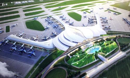 Phối cảnh sân bay Long Thành theo thiết kế hoa sen.