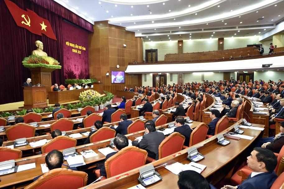 Hội nghị Trung ương 8 (khóa XII) chính thức khai mạc sáng 2/10 tại Hà Nội. Ảnh: VGP