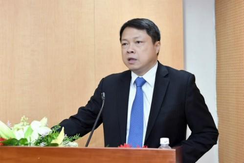 Ông Nguyễn Văn Du tại buổi lễ nhận quyết định bổ nhiệm.