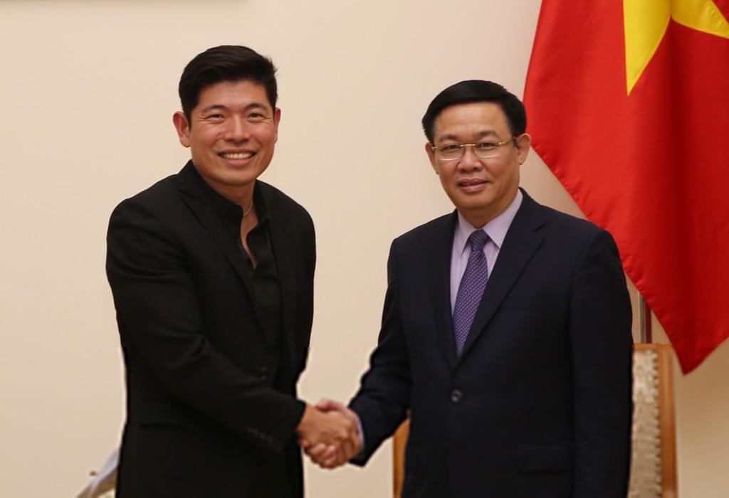 Phó Thủ tướng Vương Đình Huệ tiếp ông Anthony Tan, Giám đốc Điều hành kiêm đồng sáng lập công ty Grab. Ảnh: VGP