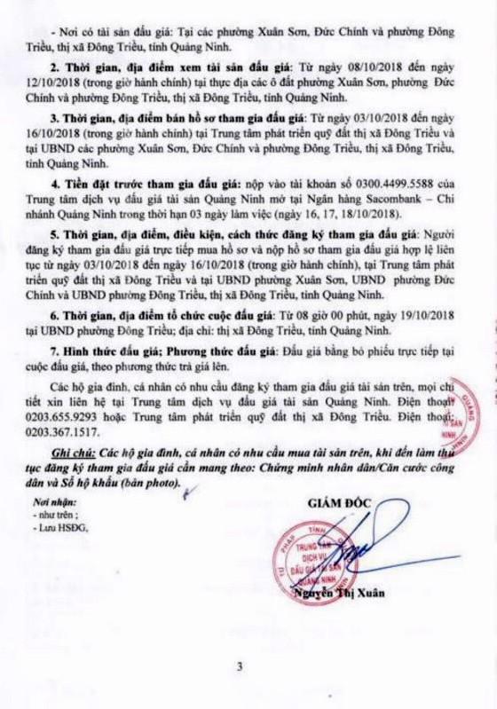 Ngày 19/10/2018, đấu giá quyền sử dụng 33 lô đất tại thị xã Đông Triều, tỉnh Quảng Ninh - ảnh 3