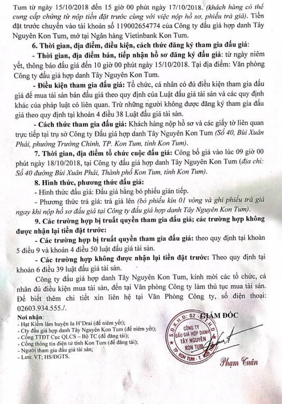 Ngày 18/10/2018, đấu giá 16,910 m3 gỗ xẻ tại tỉnh Kon Tum - ảnh 2