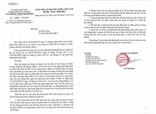 TPHCM chỉ đạo làm rõ các sai phạm tại chung cư Quốc Cường Gia Lai - ảnh 1