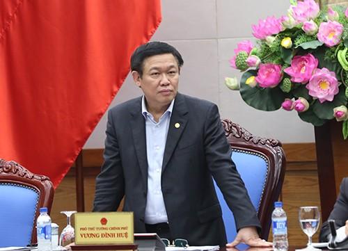 Phó Thủ tướng Vương Đình Huệ phát biểu chỉ đạo tại buổi họp. Ảnh: VGP