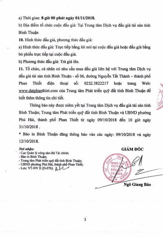 Ngày 1/11/2018, đấu giá quyền sử dụng đất tại thành phố Phan Thiết, Bình Thuận - ảnh 3